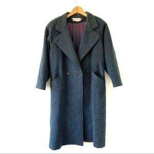 Vintage Long Wool Pea Coat Union Made Women's M-L